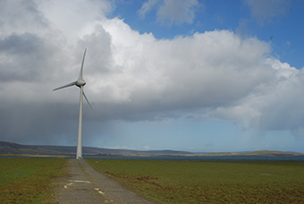 Turbine in operation